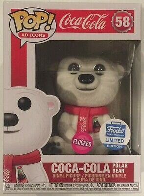 Funko Pop Ad Icons Coca Cola Polar Bear Flocked Limited Store Exclusive 58