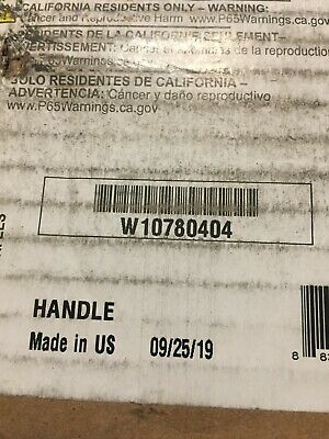 OEM W10780404 Whirlpool / Kitchenaid  Appliance Handle RED Ends NEW 2 PACK