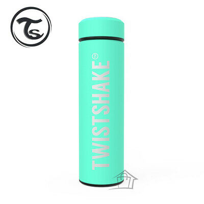 NEW Twistshake Hot or Cold Insulated Bottle 420ml Mint Green Stainless Steel