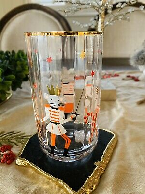 Anthropologie Rifle Paper Co The Nutcracker Juice Glass Mouse King