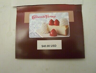 $40 The Cheesecake Factory Gift Card