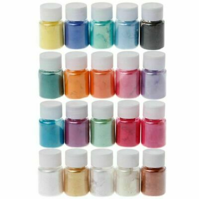 20 Bottles Mica Powder Epoxy Resin Dye Pearl Pigment Natural Mica Mineral Powder