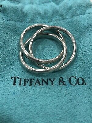 Tiffany & Co Intertwined Triple Rolling Rings Sterling Silver