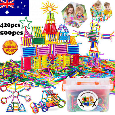 500pcs Magnetic Building Blocks Toy Set 3D Tiles DIY Toys Gift for Kids Children