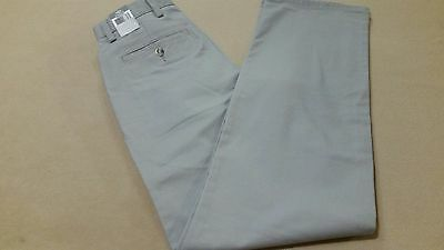 DOCKERS Mens Easy Khaki Flat Front D2 Straight Fit Pant 38x34 Ancient Stone GRAY