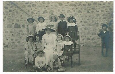 OLD REAL PHOTO POSTCARD 'DAISY' & CHILDREN Australia early 1900s