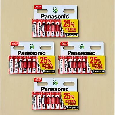 40X Panasonic Genuine AA Batteries 1.5V LR6 MN1500 Battery AM R6