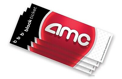 4 AMC Movie Theater Black Ticket Vouchers