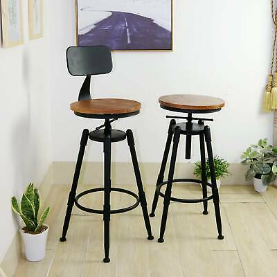 Breakfast Bar Stools Seat Dining Chair Industrial Retro Vintage Kitchen Christma