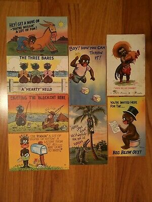 Vintage Black/Americana PostCards Set X8. Collection