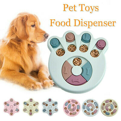 Pet Puppy Treat Dispenser Dog Puzzle Toys Bowl Interactive Training Game Feeder
