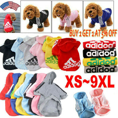 Cute Adidog Hoodies Female/Male Small Dogs Outfits Apparel Warm Dog Clothes