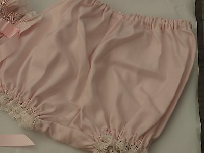 Pink Fine Cotton Baby Panties or Nappy Cover - Size Newborn 0-4 months