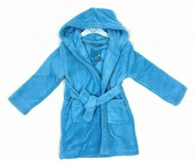 Blue Dressing Gown Lily & Jack 5-6 Years Plain Girl Boy Gift New Fleece