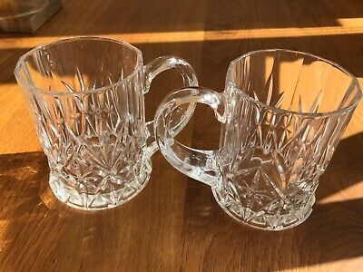 Cut Crystal Tankards  - 2