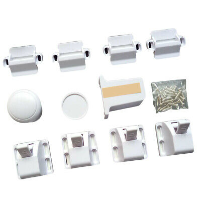 Magnetic Hidden Cupboard Locks Child Safety Furniture Door Drawer Latches 4 Pack
