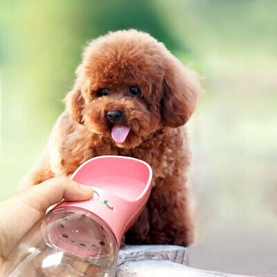 1x Cup Puppy Dog Cat Pet Water Bottle Drinking Travel Outdoor Portable Feeder US