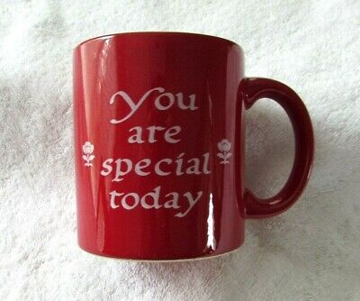 "Waechtersbach Germany Red Cup Mug ""You Are Special Today"" Pottery"