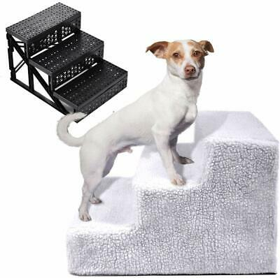 Pet Stairs 3 Step Dog Ladder Indoor Cat Ramp Steps Stair Cat Ladder with Cover