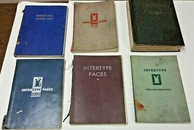 Vintage  INTERTYPE FACES Display Books