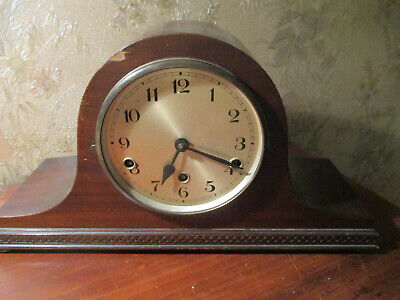 Fontenoy France C1920 Oak Cased Westminster Chime Neopoliian Hat  Mantle Clock