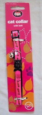 Cat Collar With Bell Metallic Pink