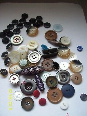 *Large Mixed Lot Of Buttons