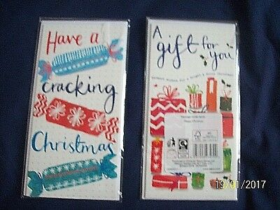 Christmas Money Wallet Card Twin Pack.