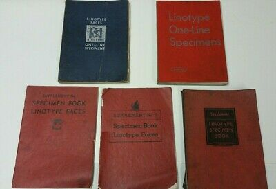 Linotype One-Line Specimen Books
