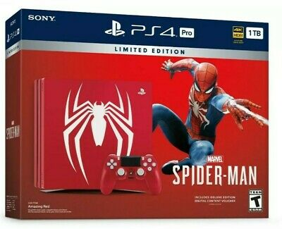 Brand New Sony PS4 Pro Console Bundle~Marvel SpiderMan Limited Edition 1 TB
