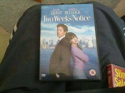 Dvd film TWO WEEKS NOTICE. Hugh grant.  Sandra bullock