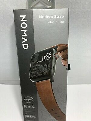 Nomad - Modern Leather Watch Strap for Apple Watch 42mm and 44mm - Brown
