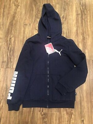 Boys Age 11 - 12 Years Puma Zip Up Hooded Top Brand New With Tags