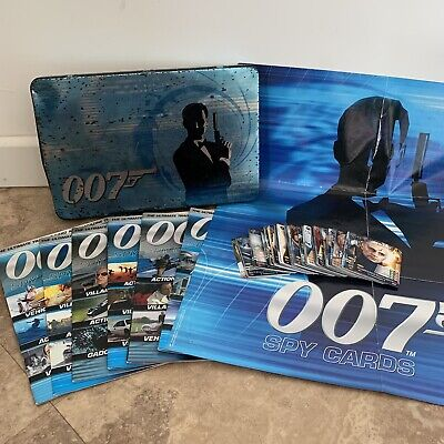James Bond 007 2008 Spy Cards Tin Set Features 72 Cards, 6 Magazines & Poster