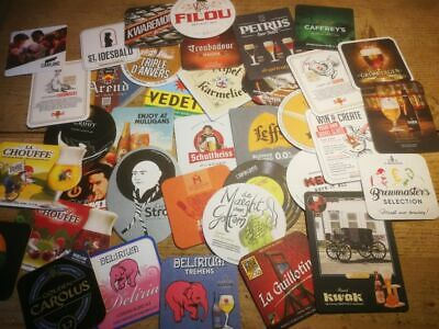 LOT 300 different Belgian beer coasters 300 bierkaartjes beer cards sous bock
