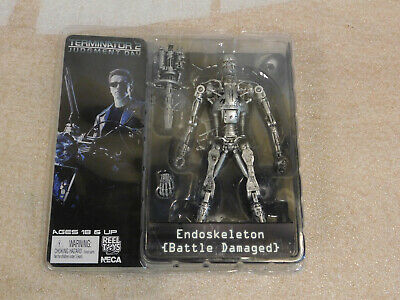 "NECA Judgement Day TERMINATOR 2 Endoskeleton Battle Damaged 7"" Action Figure"