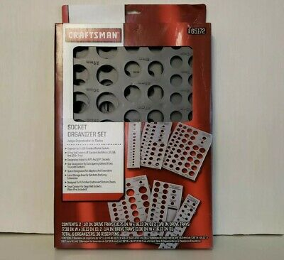 Craftsman 6 Tray Socket Wrench Organizer Divider Set Holds 195 SAE MM Storage