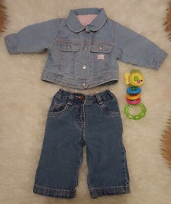 Mothercare Denim Girls Outfit 0-3 months