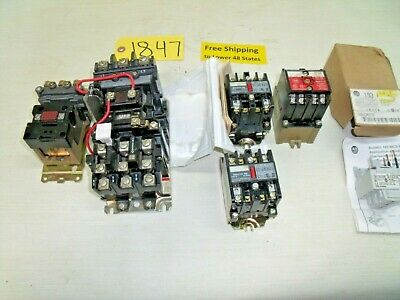 6 pcs. AB Electrical Relays - Drive - Starters   used & new Free Ship