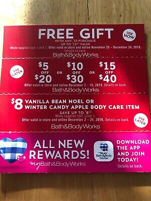3 Bath And Body Works Coupons Tracked Shipping
