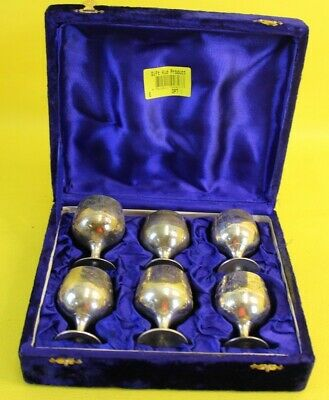 X6 Small Silver Plated Goblets ##WIG74MC