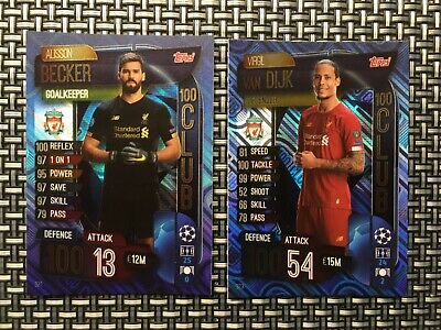Topps Match Attax 19/20, Champions & Europa league, 100 club , Becker 321, van D