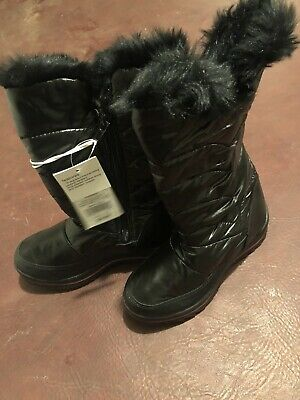 Cat And Jack Girls Youth Size 3 Snow Boots
