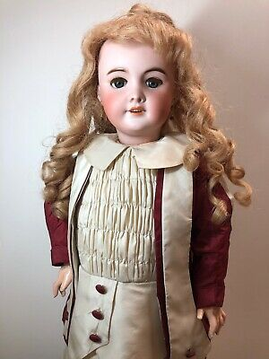 "23.5"" Antique French SFBJ 301 Bisque Head Beautiful Paris Doll HH Wig Blonde SC5"