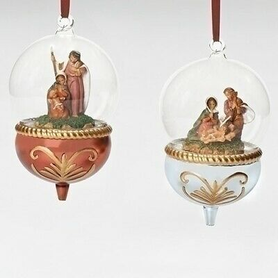 Holy Family Glass Dome Ornaments by Fontanini