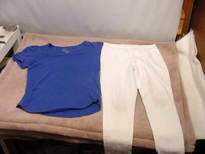 GIRLS CLOTHES - OLD NAVY KNIT SHIRT and FADED GLORY PANTS - SIZE 7 - 8