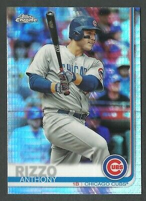 2019 Topps Chrome Anthony Rizzo #130 Prism Refractor  -  Cubs