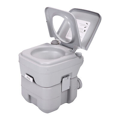 5 Gallon 20L Portable Toilet Flush Commode Camping Outdoor/Indoor Commode Potty