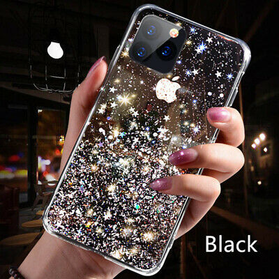 For iPhone 11 Pro Max XS XR X 8 7 Plus Glitter Shockproof Protective Case Cover