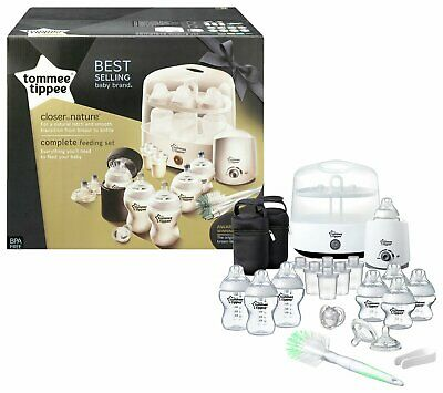 Original NEW Tommee Tippee Complete Big Feeding Set (Closer to Nature) White